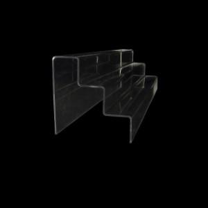 Acryltreppe, 3 Stufen 5x5 cm, 60 cm breit