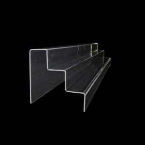 Acryltreppe, 3 Stufen 5x5 cm, 76 cm breit