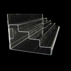 Acryltreppe, 76 cm breit, Rückwand und Boden