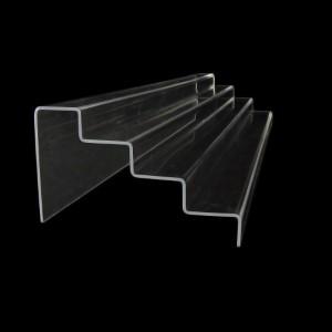 Acryltreppe, 4 Stufen 3x5 cm, 76 cm breit