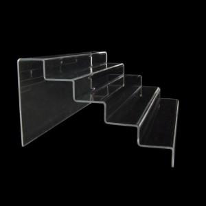 Acryltreppe, 5 Stufen 3x5 cm, 36 cm breit