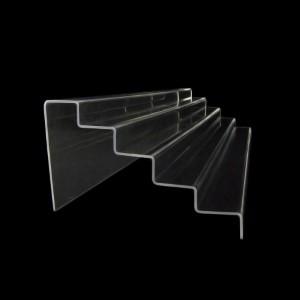 Acryltreppe, 5 Stufen 3x5 cm, 76 cm breit