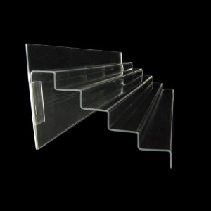 Acryltreppe, 76 cm breit, Rückwand