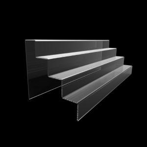 Acryltreppe, 4 Stufen 5x5 cm, 60 cm breit