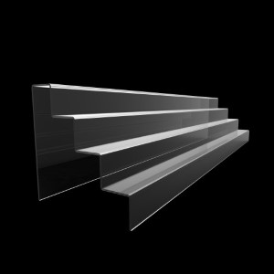 Acryltreppe, 4 Stufen 5x5 cm, 95 cm breit