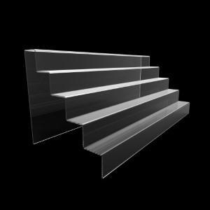 Acryltreppe, 5 Stufen 5x5 cm, 60 cm breit