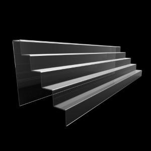 Acryltreppe, 5 Stufen 5x5 cm, 95 cm breit