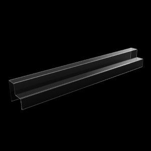 Acryltreppe, 2 Stufen 5x5 cm, 80 cm breit