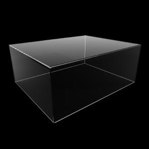 Acrylhaube FLACH, 500 x 200 x 400 mm