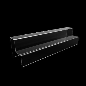 Acryltreppe, 2 Stufen 5x5 cm, 40 cm breit