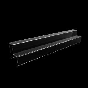 Acryltreppe, 2 Stufen 5x5 cm, 60 cm breit