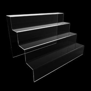 Acryltreppe, 4 Stufen 5x5 cm, 30 cm breit