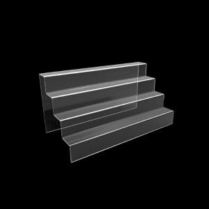 Acryltreppe, 4 Stufen 5x5 cm, 40 cm breit