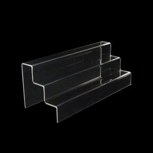 Acryltreppe, 3 Stufen 5x5 cm, 40 cm breit